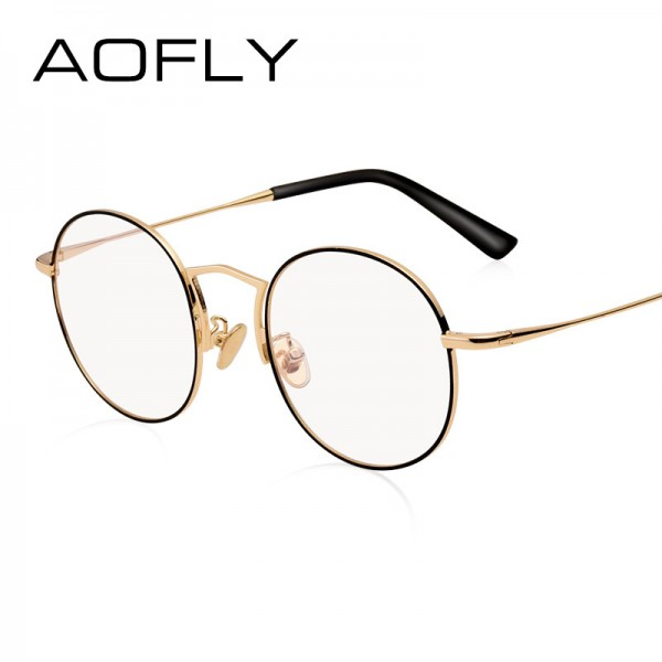 Plain Glasses Frame Women Brand Designer Alloy Glasses Frame Vintage Fashion Female Clear Lens Eyeglasses Extra Image 2