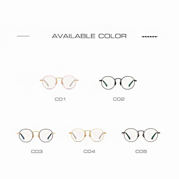 Plain Glasses Frame Women Brand Designer Alloy Glasses Frame Vintage Fashion Female Clear Lens Eyeglasses Extra Image 5