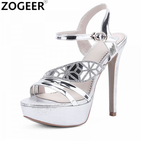 Plus Size 2018 Summer Women Sandals Fashion High Heels Sandal Sexy Gladiator Platform Party Dress Shoes Woman