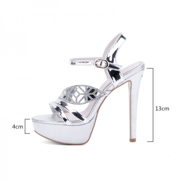 Plus Size 2018 Summer Women Sandals Fashion High Heels Sandal Sexy Gladiator Platform Party Dress Shoes Woman Extra Image 1