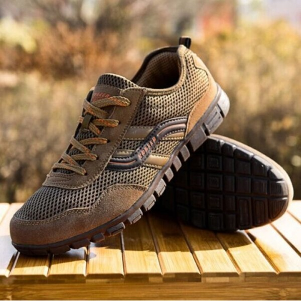 Plus Size 44 48 Autumn Spring Men Shoes Gauze Breathable Shoes Men Large Size Casual Outdoor Flat Sports Shoes Extra Image 4