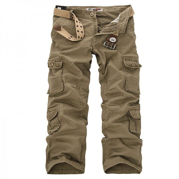 Plus Size Cargo Pants Men Solid Cotton High Quality Loose Military Trousers Fashion Brand Clothing Casual Men Pants Extra Image 2