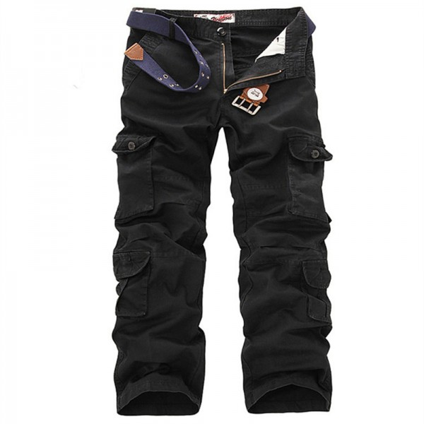 Plus Size Cargo Pants Men Solid Cotton High Quality Loose Military Trousers Fashion Brand Clothing Casual Men Pants Extra Image 5