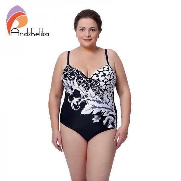 Plus Size Sexy One Piece Swimsuit Floral High Waist Large Cup Bikini Set For Women Elastic For Ladies Thumbnail