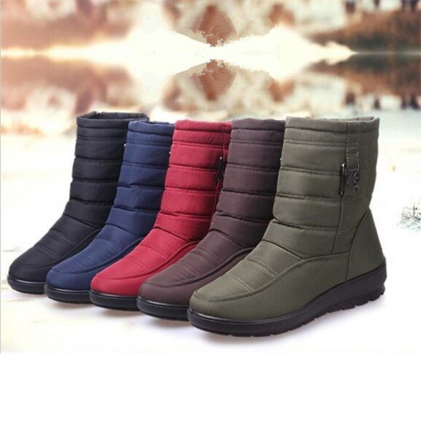 5e13d4aa86d ... Plus size snow boots women winter plus fur keep warm non slip women  boots waterproof casual ...