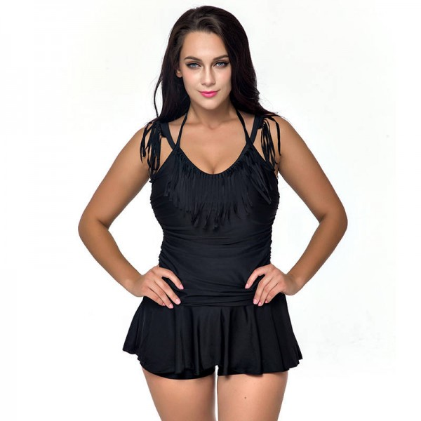 Plus Size Swimwear One Piece Swimsuits Retro Vintage Large High Waisted Bathing Suits Beachwear For Summers Extra Image 2