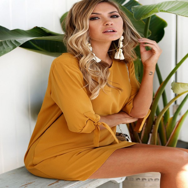 Plus Size Women Clothing Half Sleeve Boho Chiffon Dress Extra Large Bodycon Women New Mini Dress Vestidos For Ladies Extra Image 3