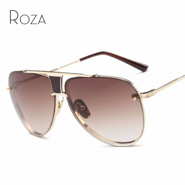 Polarized Aviator Sunglasses For Ladies Vintage Punky Goggle Pilot Aviator UV400 Designer Glasses For Women Extra Image 0