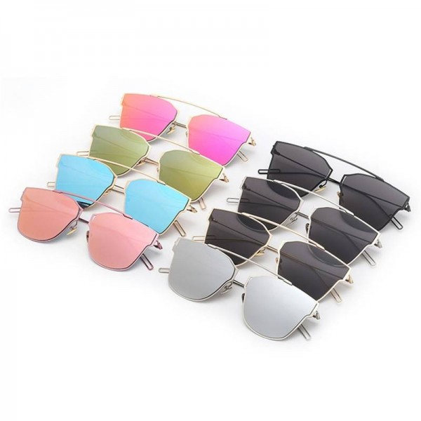 Polarized Fishing Sunglasses For Women Single Nose Design Flat Lens Metal Frame Eyewear For Ladies Extra Image 2