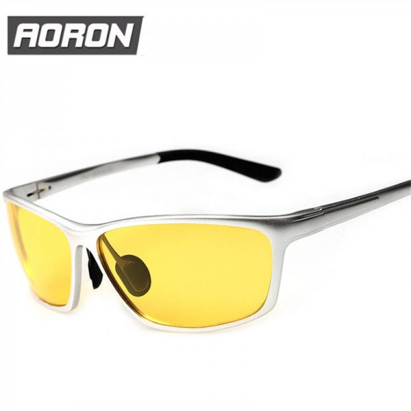Polarized Night Vision Goggles Aluminium Magnesium Male Driving Glasses UV400 Drivers Sunglasses Shades Extra Image 1