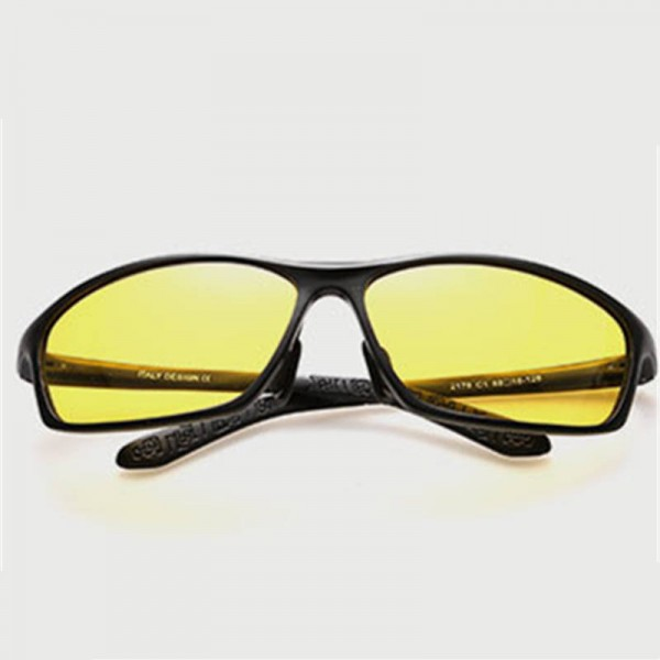 Polarized Night Vision Goggles Aluminium Magnesium Male Driving Glasses UV400 Drivers Sunglasses Shades Extra Image 4
