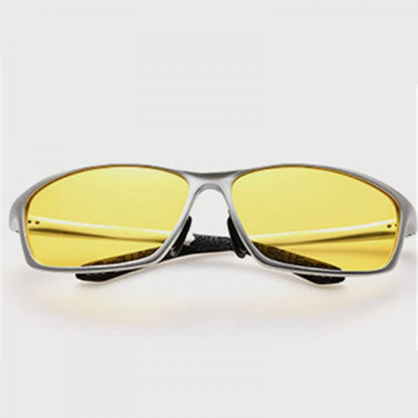 Polarized Night Vision Goggles Aluminium Magnesium Male Driving Glasses UV400 Drivers Sunglasses Shades Extra Image 5