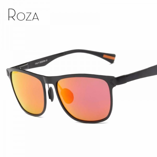 Polarized Steampunk Sunglasses For Men And Women Retro Ultra Light Roza UV400 Polarized Magnesium Alloy Shades