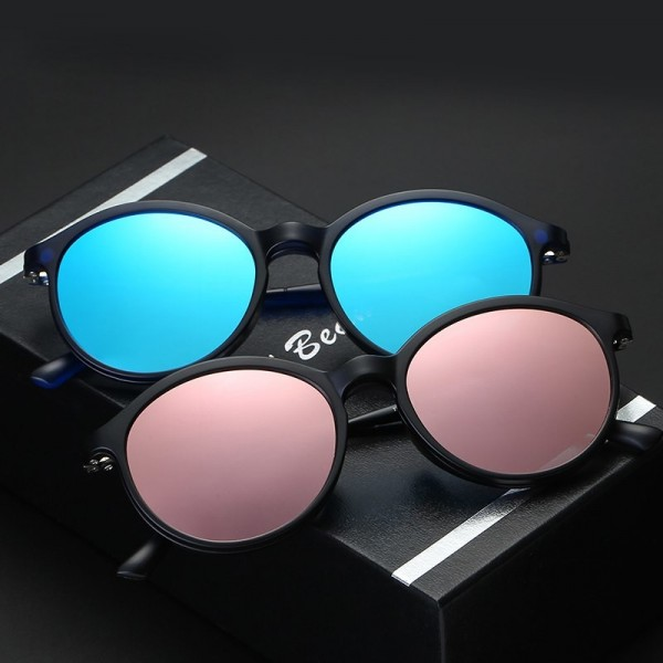 Polarized Sunglasses round Unisex Clip On Sunglasses Vintage Designer Sun Glasses Man Woman retro de sol masculino Extra Image 2