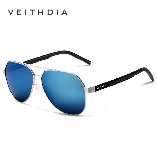 Polaroid UV400 High Definition Sunglasses For Men Blue Coating Mirror Pilot Aviator Polarized Sunglasses Extra Image 2