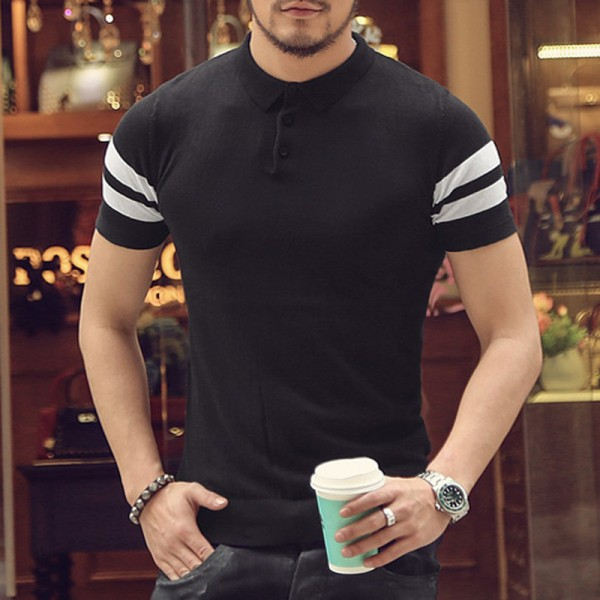Polo T Shirts For Men New Summer Style 2018 Collection Short Sleeved Slim Fit Tees Solid Casual Shirts For Males Extra Image 1