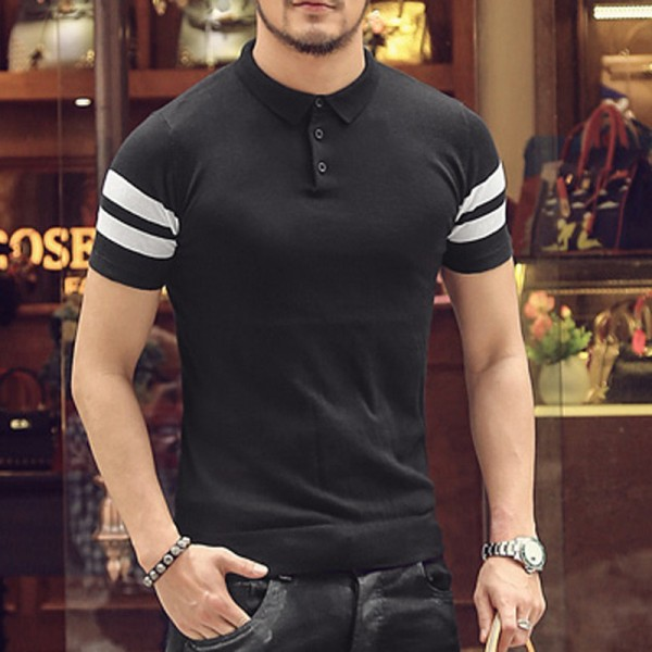 Polo T Shirts For Men New Summer Style 2018 Collection Short Sleeved Slim Fit Tees Solid Casual Shirts For Males Extra Image 5