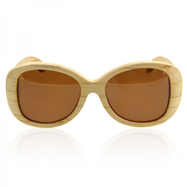 Popular Beach Sunglasses Classic Wooden Frame Spring Wood Bamboo Sunglasses Stylish Eyewear Oval Design