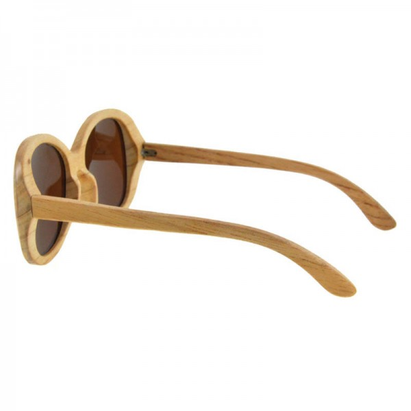 Popular Beach Sunglasses Classic Wooden Frame Spring Wood Bamboo Sunglasses Stylish Eyewear Oval Design Extra Image 3