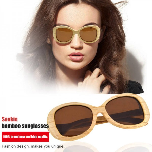 Popular Beach Sunglasses Classic Wooden Frame Spring Wood Bamboo Sunglasses Stylish Eyewear Oval Design Extra Image 5