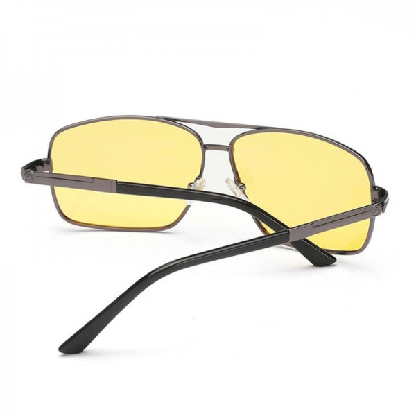 Portable Metal Frame Sunglasses With Night Vision For Men And Women Comfortable Square Alloy Frame Eyeglasses Extra Image 3