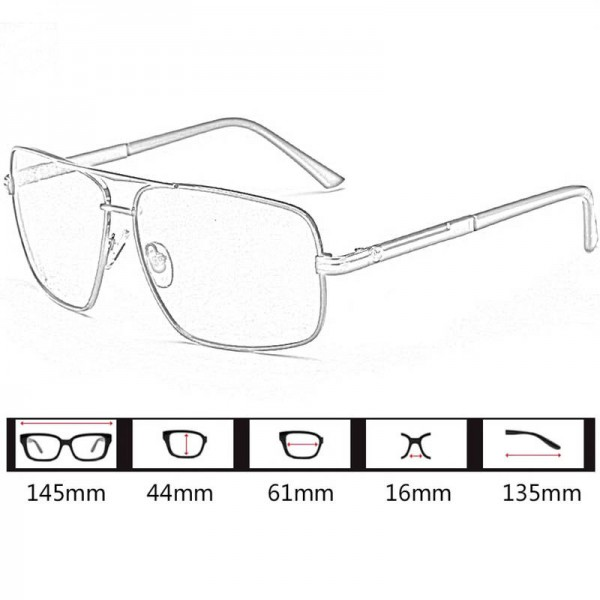 Portable Metal Frame Sunglasses With Night Vision For Men And Women Comfortable Square Alloy Frame Eyeglasses Extra Image 4