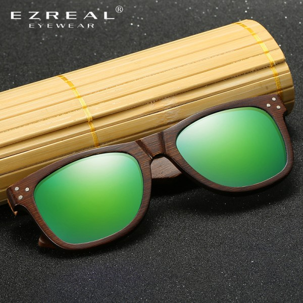 Real Wood Sunglasses Polarized Wooden Glasses UV400 Bamboo Sunglasses Brand Wooden Sun Glasses With Wood Case Extra Image 2