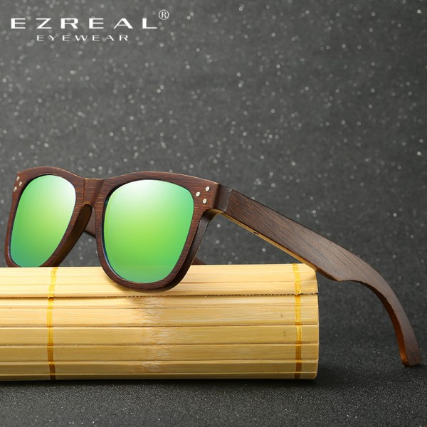 Real Wood Sunglasses Polarized Wooden Glasses UV400 Bamboo Sunglasses Brand Wooden Sun Glasses With Wood Case Extra Image 3