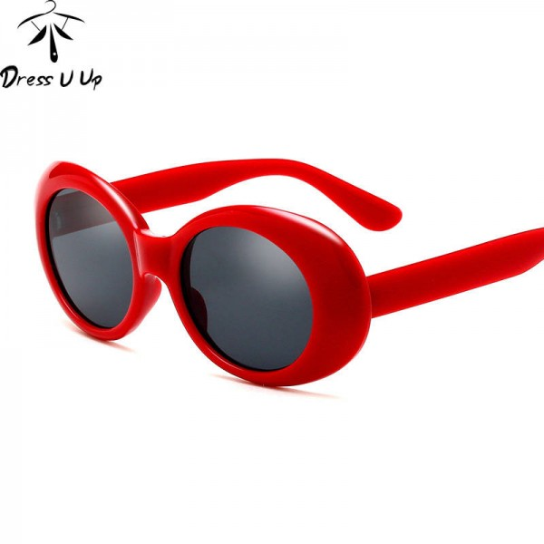 Red Hot Sunglasses Designer Retro Oval New Fashion Shades UV400 Polarized HD Sexy Girl Eyewear For Ladies