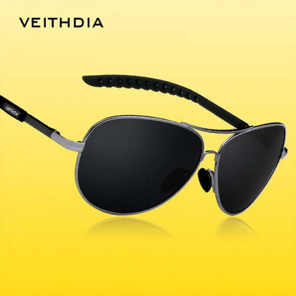 Retro Aviator Sunglasses Polarized UV400 Customized Pilot Aviator Classic Modern Design Eyewear For Men Extra Image 1