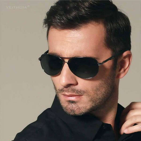 Retro Aviator Sunglasses Polarized UV400 Customized Pilot Aviator Classic Modern Design Eyewear For Men Extra Image 4