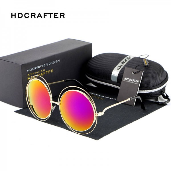 Retro Round Sunglasses For Women New Fashion Oval Hollow Frame UV400 Polarized Summer Eye Wear For Ladies Extra Image 4