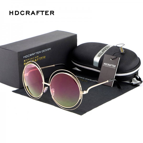 Retro Round Sunglasses For Women New Fashion Oval Hollow Frame UV400 Polarized Summer Eye Wear For Ladies Extra Image 5