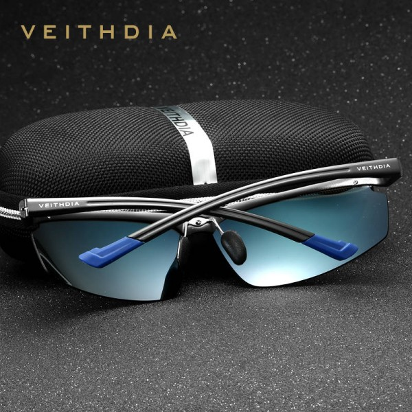 Rimless Men Sunglasses Aluminium Magenesium Polarized UV400 Fashion Accessories Sun Shades For Men Extra Image 1