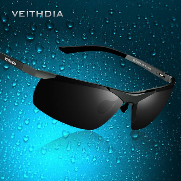 Rimless Rectangle Sunglasses Hunting Sports Mens Goggles Polarized UV400 Aluminium Veithdia Brand Sunglasses Extra Image 3