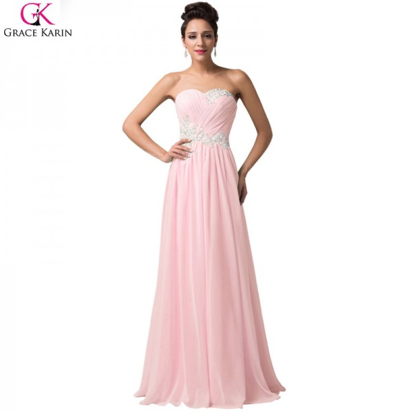 Buy Robe De Soiree Long Evening Dresses Sleeveless Chiffon Formal ...