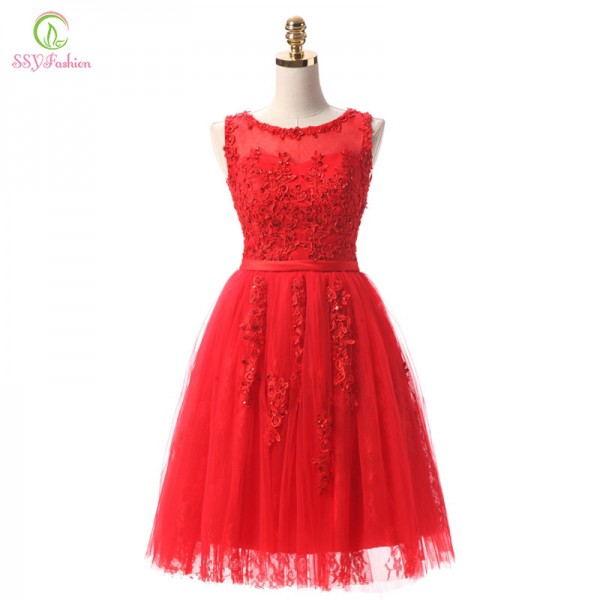 Robe De Soiree Wine Red Lace Embroidery Sleeveless A Line Evening Dresses Banquet Elegant Party Formal Prom Dress Extra Image 5
