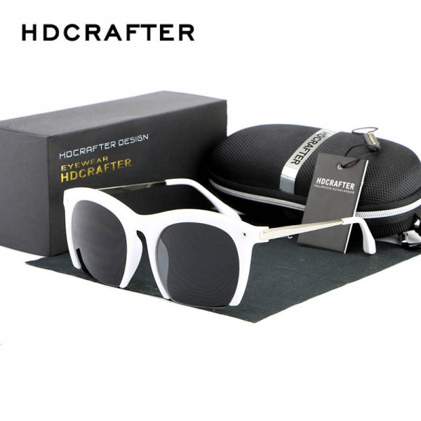 36d9a09ca17 Round Polarized Sunglasses Cat Eye Half Frame Goggles Half Rim Tinted Sun  Wear Metal Frame Ladies Shades