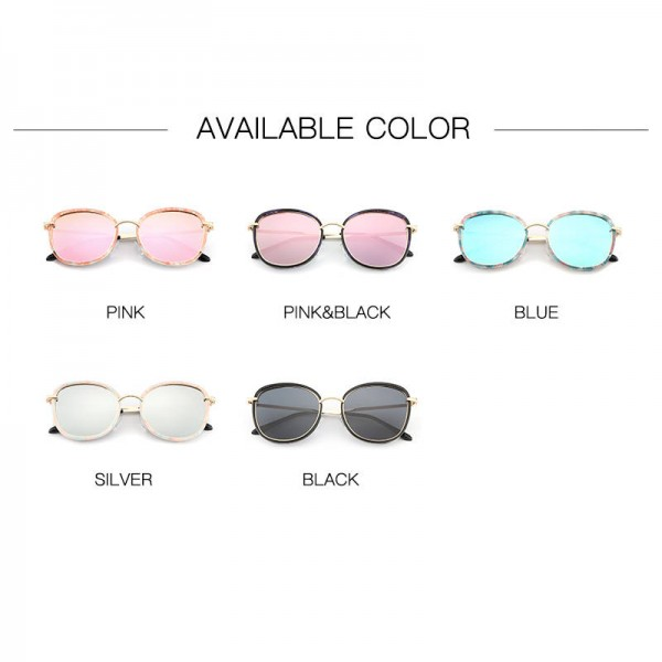 Round Polarized Sunglasses Cat Eye Latest Designer Women Pink Polarized Sunglasses HDCRAFTER Glasses Extra Image 5
