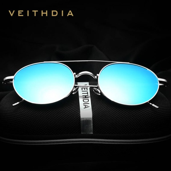 Round Retro Sunglasses Polarized UV400 Anti Scratch Veithdia Styling Trending Fashion Eye Wear For Women Extra Image 1