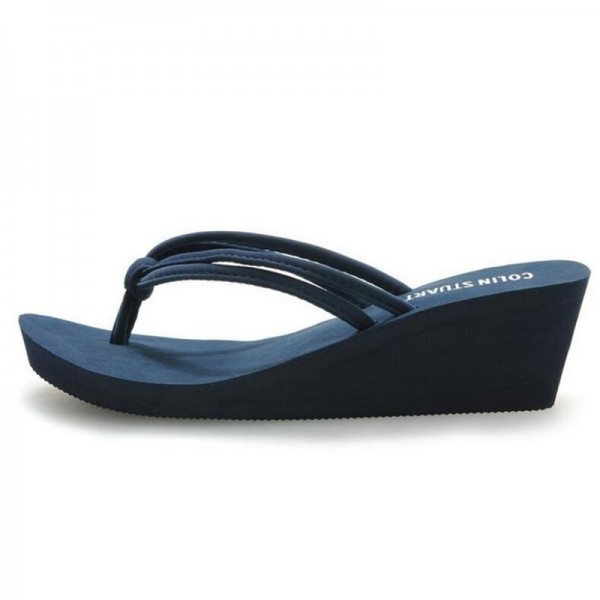 Rubber Slip On Casual Plain Fashion Sandals Shoes Beach Flat Wedge Flip Flops Lady Slippers Women 2018 Summer Style Extra Image 2