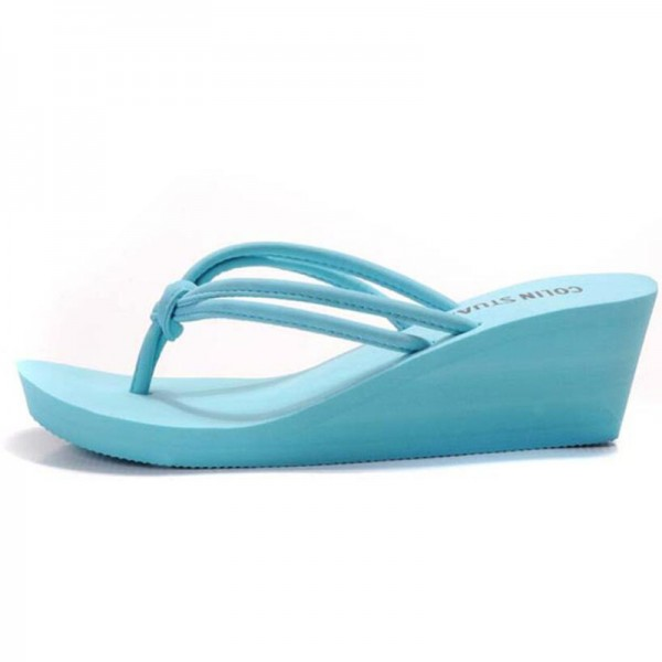 Rubber Slip On Casual Plain Fashion Sandals Shoes Beach Flat Wedge Flip Flops Lady Slippers Women 2018 Summer Style Extra Image 5