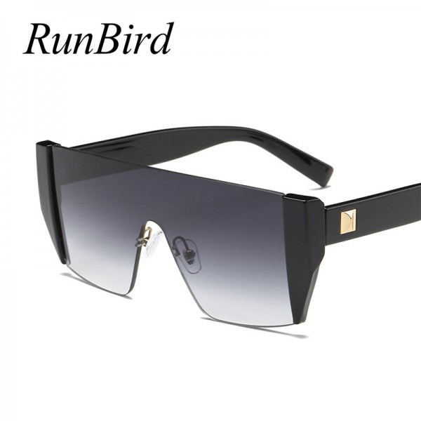 Runbird Fashion Sunglasses Women Square Personality Exaggerated Original Brand Designer Glasses Steampunk Extra Image 2