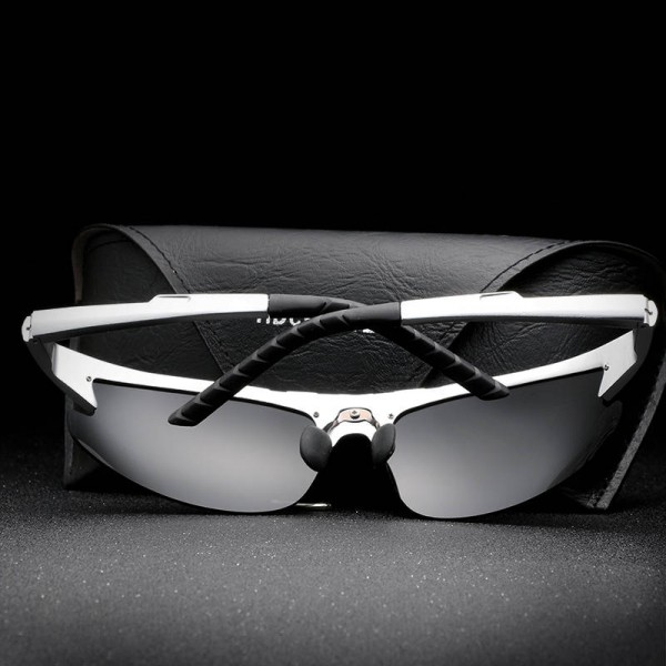 Semi Rimless HD Crafter Sunglasses For Men High Quality Polarized UV400 Male Goggles New Fashion Shades Extra Image 4