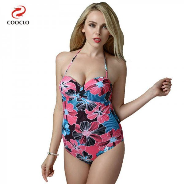 7e950569247c6 Sexy Backless Swimsuits For WOmen Flower Printed Plus Size Vintage Beachwear  True Fit One Piece Swimwear ...