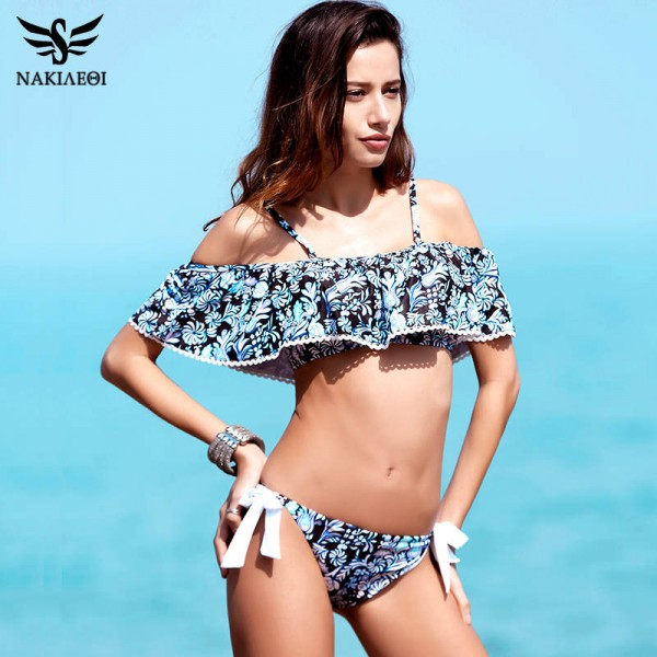 Sexy Bandeau Bikinis Push Up Swimwear Brazilian Style Bikini Set Beach Bathing Suits Padded Low Waist Suits Extra Image 1