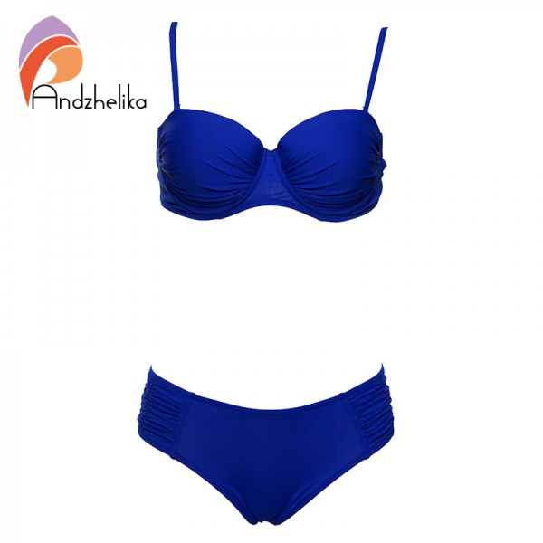 435f3abd69f45 Sexy Bikini Set Beach Dress Solid Swimwear Summer Two Piece Women Thumbnail  ...