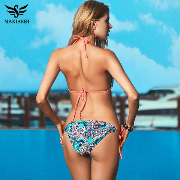 Sexy Bikinis Women Swimsuit 2018 Beach Wear Bathing Suit Push Up Swimwear Female Printed Brazilian Bikini Set Swim Wear Extra Image 3