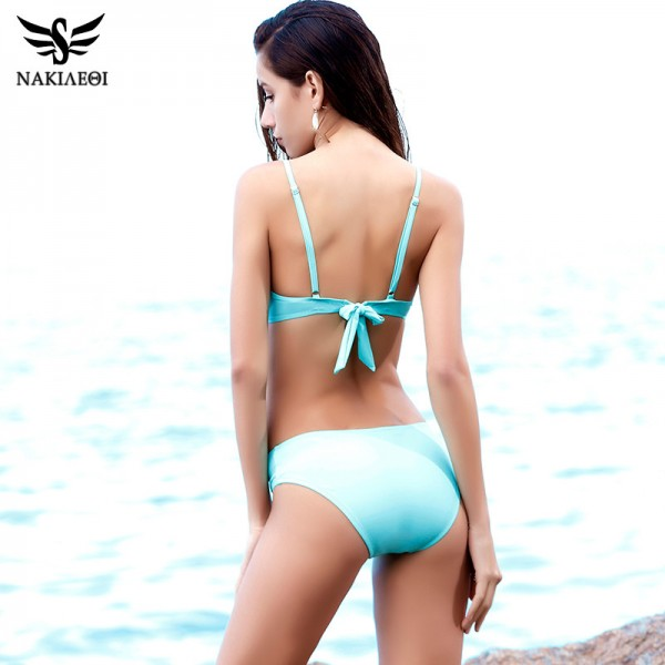 Sexy Criss Cross Bikini Women Swimsuit 2018 New Push Up Swimwear Bandage Brazilian Bikini Set Bathing Suit Swim Wear Extra Image 3