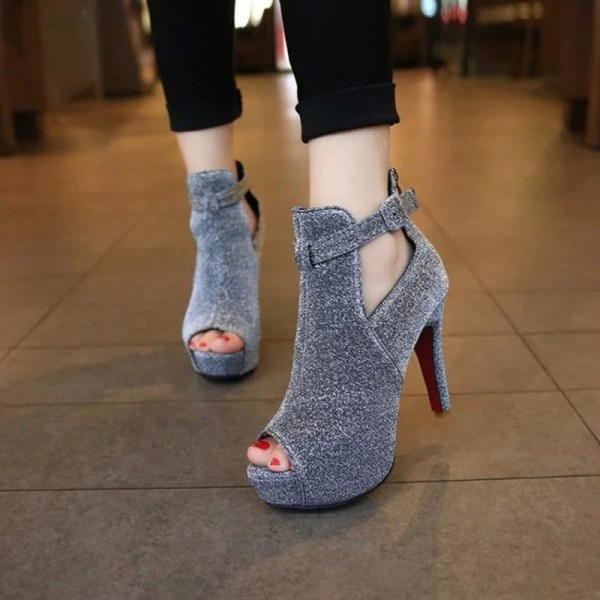 Sexy High Heels For Women Bling Party Sandals Peep Toes Glamorous Sandals For Ladies Extra Image 3